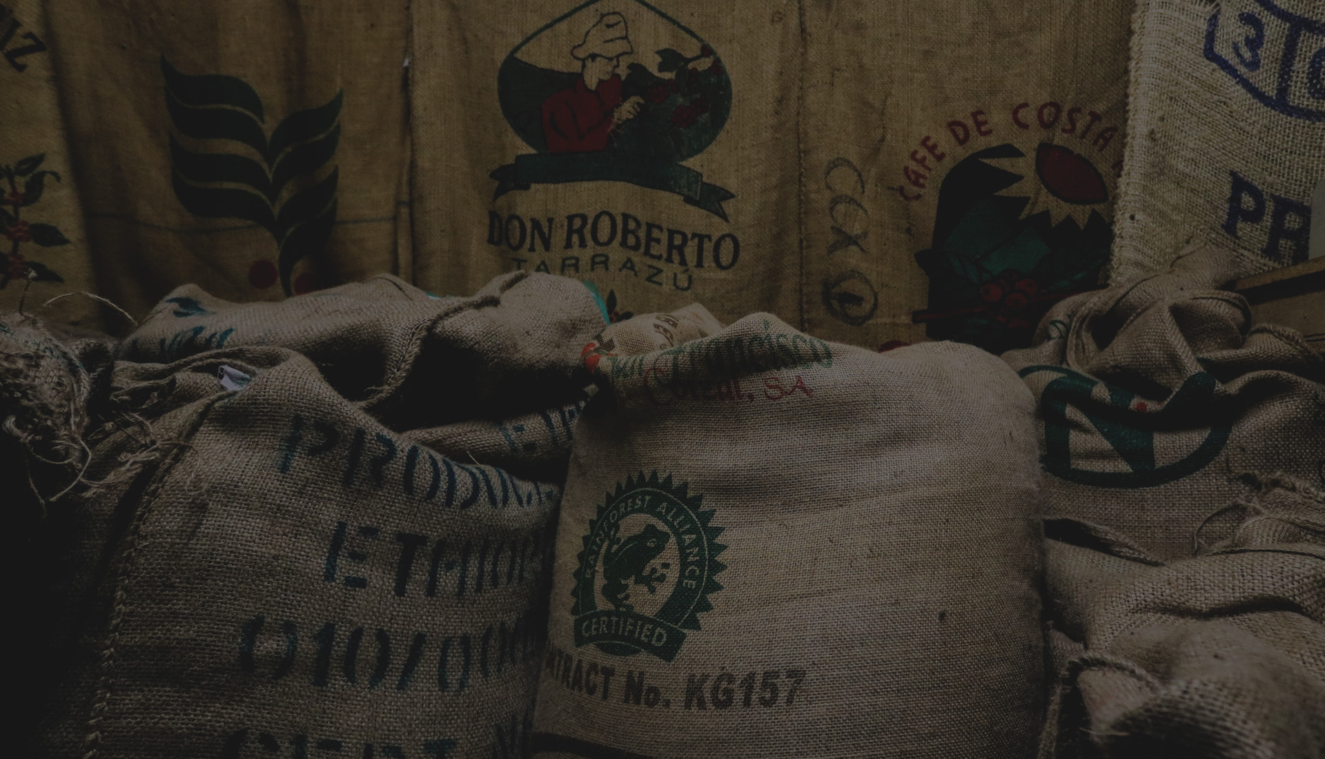 Coffee beans from around the world