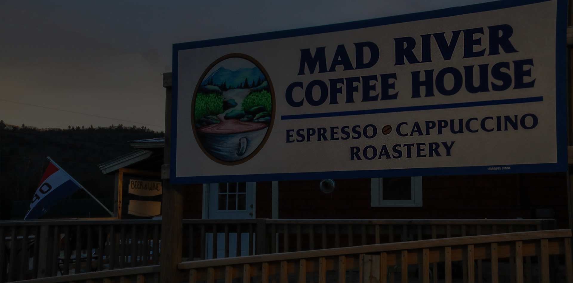 Mad River Coffee Roasters sign